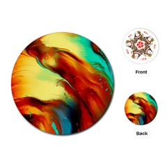 Abstract Acryl Art Playing Cards (round)  by tarastyle