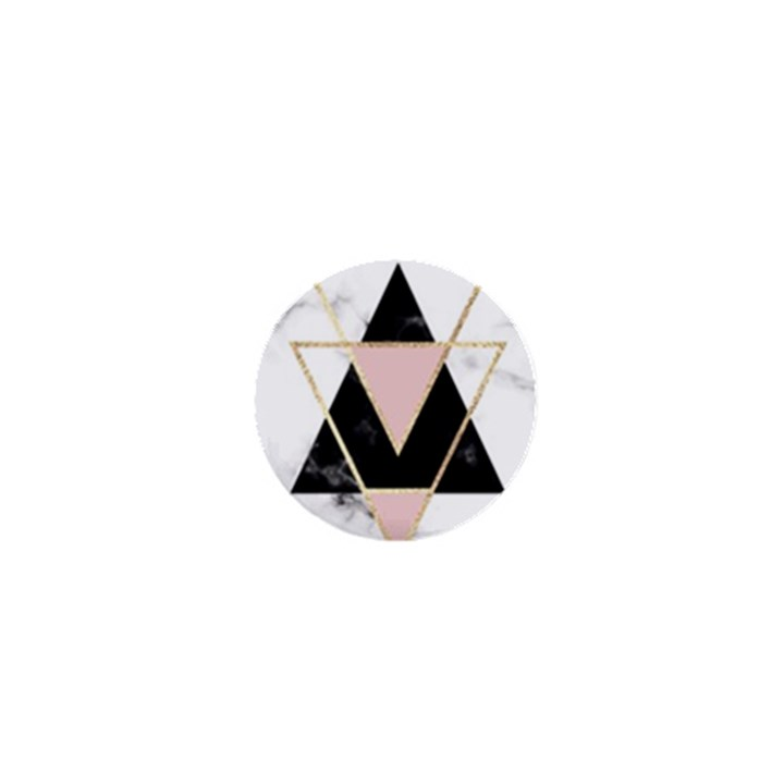 Triangles,gold,black,pink,marbles,collage,modern,trendy,cute,decorative, 1  Mini Buttons