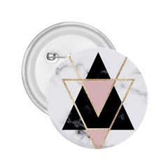 Triangles,gold,black,pink,marbles,collage,modern,trendy,cute,decorative, 2 25  Buttons by 8fugoso