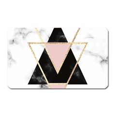 Triangles,gold,black,pink,marbles,collage,modern,trendy,cute,decorative, Magnet (rectangular) by 8fugoso