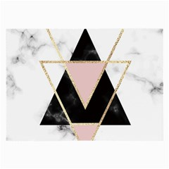 Triangles,gold,black,pink,marbles,collage,modern,trendy,cute,decorative, Large Glasses Cloth