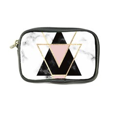 Triangles,gold,black,pink,marbles,collage,modern,trendy,cute,decorative, Coin Purse by 8fugoso