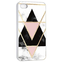 Triangles,gold,black,pink,marbles,collage,modern,trendy,cute,decorative, Apple Iphone 4/4s Seamless Case (white) by 8fugoso