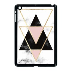 Triangles,gold,black,pink,marbles,collage,modern,trendy,cute,decorative, Apple Ipad Mini Case (black) by 8fugoso