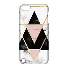 Triangles,gold,black,pink,marbles,collage,modern,trendy,cute,decorative, Apple Ipod Touch 5 Hardshell Case With Stand by 8fugoso