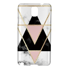 Triangles,gold,black,pink,marbles,collage,modern,trendy,cute,decorative, Samsung Galaxy Note 3 N9005 Hardshell Case by 8fugoso