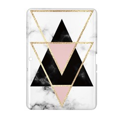 Triangles,gold,black,pink,marbles,collage,modern,trendy,cute,decorative, Samsung Galaxy Tab 2 (10 1 ) P5100 Hardshell Case  by 8fugoso