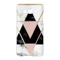 Triangles,gold,black,pink,marbles,collage,modern,trendy,cute,decorative, Samsung Galaxy A5 Hardshell Case  by 8fugoso