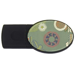 Artnouveau18 Usb Flash Drive Oval (4 Gb) by 8fugoso