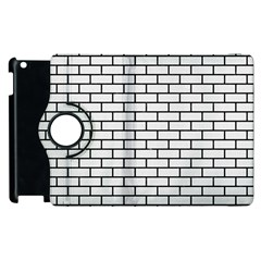 Brick1 Black Marble & White Linen Apple Ipad 3/4 Flip 360 Case by trendistuff