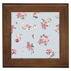 Floral Blue Framed Tiles by 8fugoso