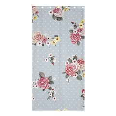 Floral Blue Shower Curtain 36  X 72  (stall)  by 8fugoso