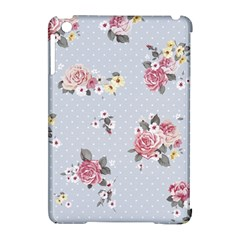 Floral Blue Apple Ipad Mini Hardshell Case (compatible With Smart Cover) by 8fugoso
