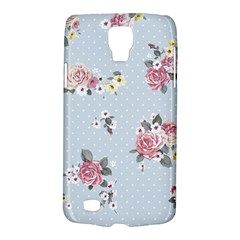 Floral Blue Galaxy S4 Active by 8fugoso