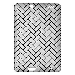 Brick2 Black Marble & White Linen Amazon Kindle Fire Hd (2013) Hardshell Case by trendistuff