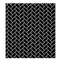 Brick2 Black Marble & White Linen (r) Shower Curtain 66  X 72  (large)  by trendistuff