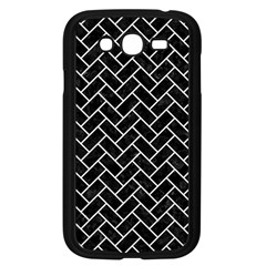 Brick2 Black Marble & White Linen (r) Samsung Galaxy Grand Duos I9082 Case (black)