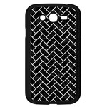 BRICK2 BLACK MARBLE & WHITE LINEN (R) Samsung Galaxy Grand DUOS I9082 Case (Black) Front