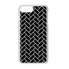 Brick2 Black Marble & White Linen (r) Apple Iphone 7 Plus Seamless Case (white) by trendistuff