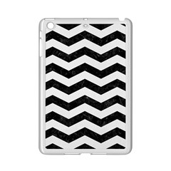 Chevron3 Black Marble & White Linen Ipad Mini 2 Enamel Coated Cases by trendistuff