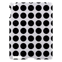 Circles1 Black Marble & White Linen Apple Ipad 3/4 Hardshell Case by trendistuff