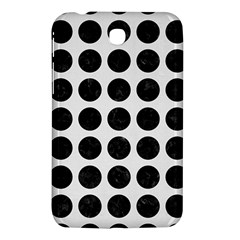 Circles1 Black Marble & White Linen Samsung Galaxy Tab 3 (7 ) P3200 Hardshell Case  by trendistuff
