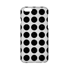 Circles1 Black Marble & White Linen Apple Iphone 6/6s Hardshell Case by trendistuff