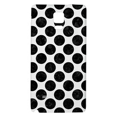 Circles2 Black Marble & White Linen Galaxy Note 4 Back Case