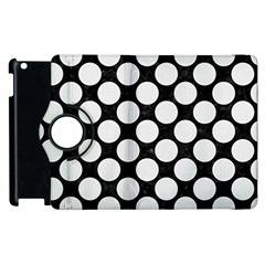 Circles2 Black Marble & White Linen (r) Apple Ipad 2 Flip 360 Case by trendistuff