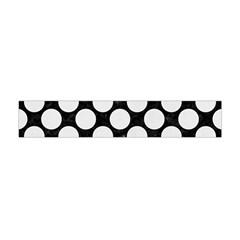 Circles2 Black Marble & White Linen (r) Flano Scarf (mini) by trendistuff