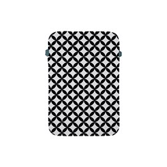 Circles3 Black Marble & White Linen Apple Ipad Mini Protective Soft Cases by trendistuff