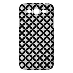 Circles3 Black Marble & White Linen Samsung Galaxy Mega 5 8 I9152 Hardshell Case  by trendistuff