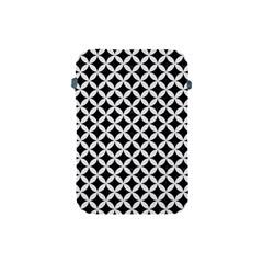 Circles3 Black Marble & White Linen (r) Apple Ipad Mini Protective Soft Cases by trendistuff