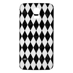 Diamond1 Black Marble & White Linen Samsung Galaxy S5 Back Case (white) by trendistuff