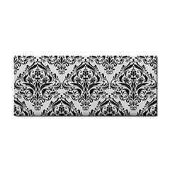 Damask1 Black Marble & White Linen Cosmetic Storage Cases by trendistuff