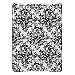 Damask1 Black Marble & White Linen Ipad Air Hardshell Cases