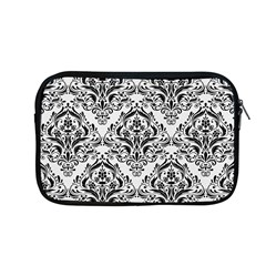 Damask1 Black Marble & White Linen Apple Macbook Pro 13  Zipper Case by trendistuff