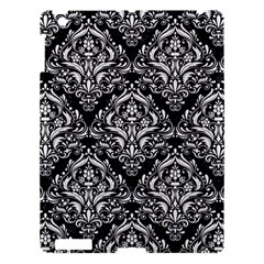 Damask1 Black Marble & White Linen (r) Apple Ipad 3/4 Hardshell Case by trendistuff