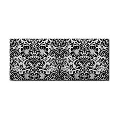 Damask2 Black Marble & White Linen Cosmetic Storage Cases by trendistuff