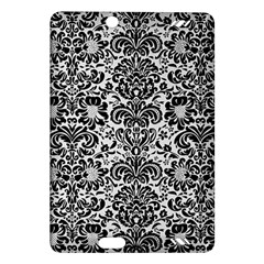 Damask2 Black Marble & White Linen Amazon Kindle Fire Hd (2013) Hardshell Case by trendistuff