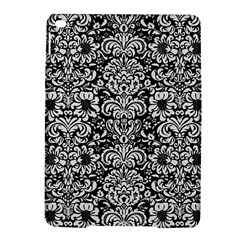 Damask2 Black Marble & White Linen (r) Ipad Air 2 Hardshell Cases by trendistuff