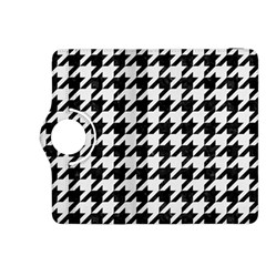 Houndstooth1 Black Marble & White Linen Kindle Fire Hdx 8 9  Flip 360 Case by trendistuff