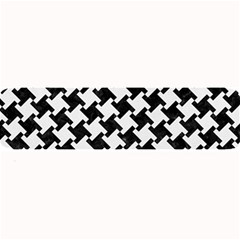 Houndstooth2 Black Marble & White Linen Large Bar Mats by trendistuff