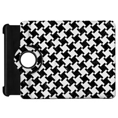 Houndstooth2 Black Marble & White Linen Kindle Fire Hd 7