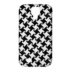 Houndstooth2 Black Marble & White Linen Samsung Galaxy S4 Classic Hardshell Case (pc+silicone) by trendistuff
