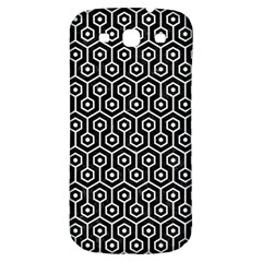Hexagon1 Black Marble & White Linen (r) Samsung Galaxy S3 S Iii Classic Hardshell Back Case by trendistuff