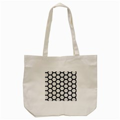 Hexagon2 Black Marble & White Linen Tote Bag (cream) by trendistuff