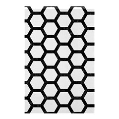 Hexagon2 Black Marble & White Linen Shower Curtain 48  X 72  (small)  by trendistuff
