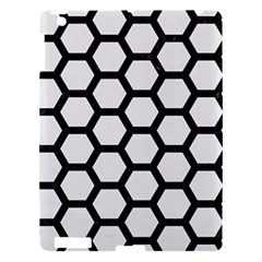 Hexagon2 Black Marble & White Linen Apple Ipad 3/4 Hardshell Case by trendistuff