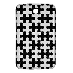 Puzzle1 Black Marble & White Linen Samsung Galaxy Tab 3 (7 ) P3200 Hardshell Case